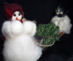 """Are You Helping?"" Wooly® Primitive Snowmen"