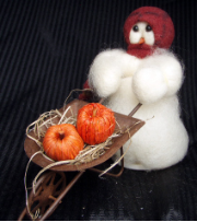 """Harvest Time"" Wooly® Primitive Snowmen"
