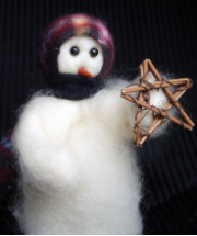 """Lone Star"" Wooly® Primitive Snowman"