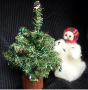 """Light the Tree"" Wooly® Primitive Snowman (Mini)"