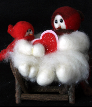 """My Special Valentine"" Wooly® Primitive Snowman"