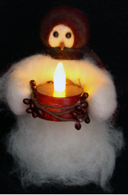 """Candle Light"" Wooly® Primitive Snowmen"