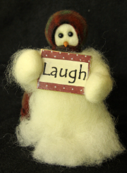 """Laugh"" Wooly® Primitive Snowmen"