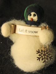 """Let It Snow"" Wooly® Primitive Snowmen"
