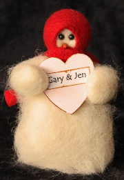 """Sweet Hearts"" Wooly® Primitive Snowmen Collection"