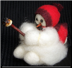 """Baby Roughing It"" Wooly® Primitive Snowmen (SKU: 10016)"