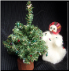 """Light the Tree"" Wooly® Primitive Snowman (Mini) (SKU: 10403)"