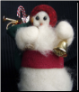 """Here Comes Santa"" Wooly® Primitive Snowman as Santa Claus (SKU: 10457)"