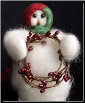 """Berry Beauty"" Wooly® Primitive Snowman (SKU: 10460)"