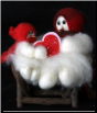 """My Special Valentine"" Wooly® Primitive Snowman (SKU: 10469)"