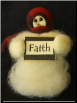 """Faith"" Wooly® Primitive Snowmen (SKU: 10480)"