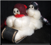 """The Big Hill"" Wooly® Primitive Snowmen"