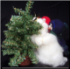 """Mini Higher Daddy"" Wooly® Primitive Snowmen"