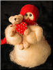 """Bear Hugs"" Wooly® Primitive Snowmen Collection"