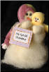 """Personalized"" wMini Wooly® Primitive Snowmen Collection"