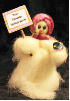 """Personalized"" wBird Wooly® Primitive Snowmen Collection (SKU: 10496)"