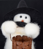 """Tricks Or"", Wooly® Snowman, Handcrafted Snowman (SKU: 10502)"