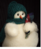 """Drink of Water Please"" Wooly® Primitive Snowmen"