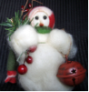 """It's Christmas Time"" Wooly® Primitive Snowman"