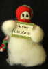 """Merry Christmas"" Wooly® Primitive Snowmen"