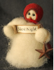 """Silent Night"" Wooly® Primitive Snowmen"