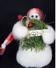 """Sing Noel"" Wooly® Snowman, Handcrafted Gift"