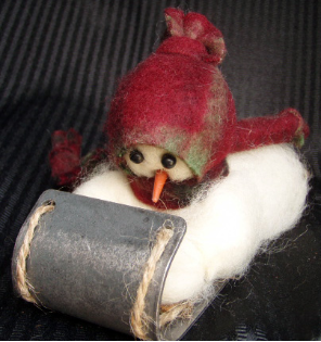 """Look Out Below"" Wooly® Primitive Snowmen"