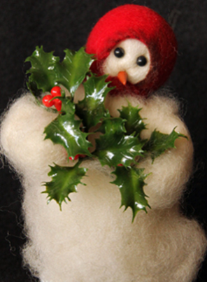 """Deck the Halls"" Wooly® Primitive Snowman"