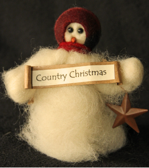 """Country Christmas"" Wooly® Primitive Snowmen"