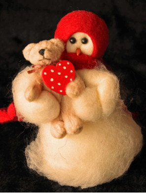 """Bear Hugs"" Wooly® Primitive Snowman"