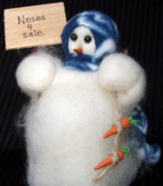 "Order ""Noses For Sale"" Wooly® Primitive Snowman"