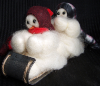 """The Big Hill"" Wooly® Primitive Snowmen (SKU: 10003)"