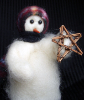 """Lone Star"" Wooly® Primitive Snowman (SKU: 10398)"