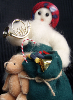 """Packing Up"" Wooly® Primitive Snowman as Santa Claus (SKU: 10456)"