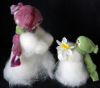 """Flowers For You"" Wooly® Primitive Snowmen (SKU: 10473)"