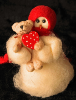 """Bear Hugs"" Wooly® Primitive Snowman (SKU: 10491)"