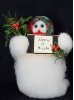 """Merry & Bright"" Wooly® Snowman, Handcrafted Gift (SKU: 10506)"