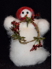 """Little Glitzy"" Original Wooly® Snowman (SKU: 10510)"