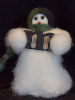 """My Initial"" Personalized Wooly® Primitive Snowman (SKU: 10511)"