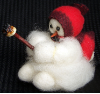"""Baby Roughing It"" Wooly® Primitive Snowmen"