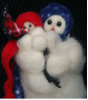 """Mini My Mother's Love"" Wooly® Primitive Snowmen"