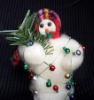 """All Tangled Up"" Wooly® Primitive Snowman"