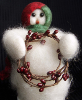"""Berry Beauty"" Wooly® Primitive Snowman"
