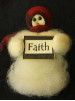 """Faith"" Wooly® Primitive Snowmen"