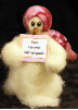 """Personalized"" Wooly® Primitive Snowman"