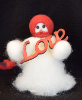 """Big Love"" Wooly® Primitive Snowman"
