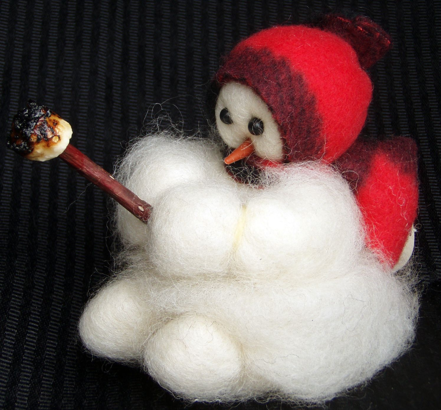 Baby Roughing It Wooly Primitive Snowman